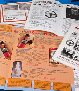 print media for consumer product brochures and catalogs